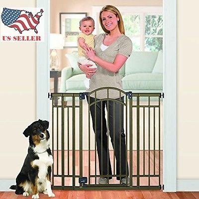 WANCHAN Dog Gate Indoor X-Tall Baby Barrier Pet Fence Walk Thru Swinging Door