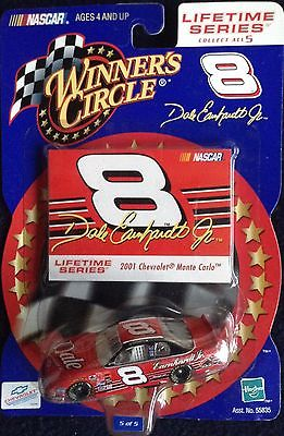 2001 Dale Earnhardt Jr 1/64 Winners Circle #8 DALE Diecast Car in Bud Colors