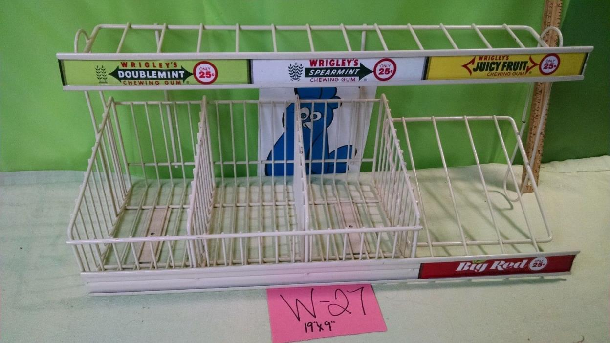 Vintage Wrigley's Gum Boxes STORE DISPLAY Holder Advertising Display RARE