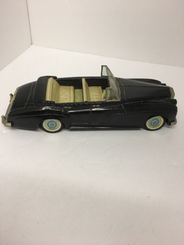 Vintage Bandai Rolls Royce Silver Cloud Tin Friction Toy Car 1955-1958