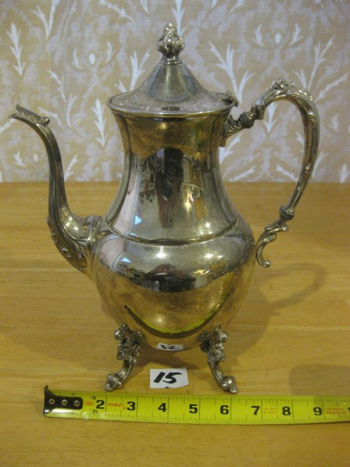 silver on copper teapot