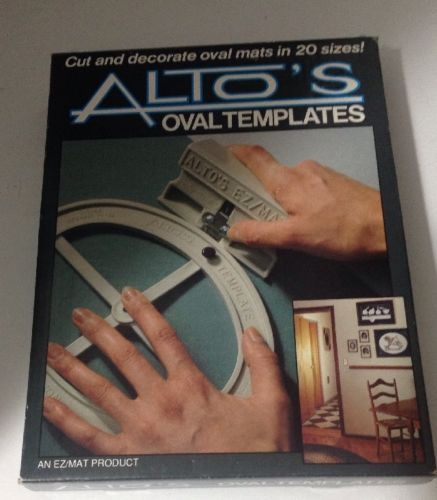 ALTO'S OVAL TEMPLATES CUTTING SYSTEM- Cut & Decorate Oval Mats in 20 Sizes-Inst