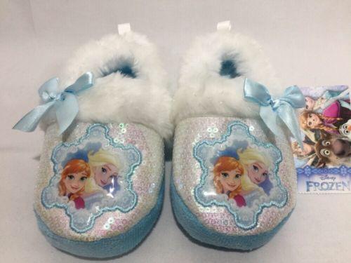 New Disney Frozen Toddler Girl's Aline Slipper Size M 7-8 NWT