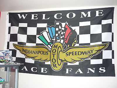 F1 Nascar Indianapolis Flag 5F x 3F buy in 2002 F1 GP like new!!