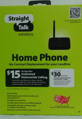 New Straight Talk Prepaid Wireless Home Phone Device + $15 1 Month Service Pin