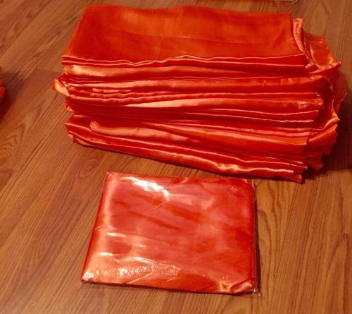 22 Orange satin overlays 60x60