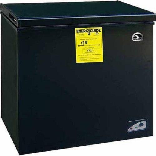 Chest Freezer 5.1 Cu Ft Black Deep Freeze Frozen Food Storage Adjustable Temp