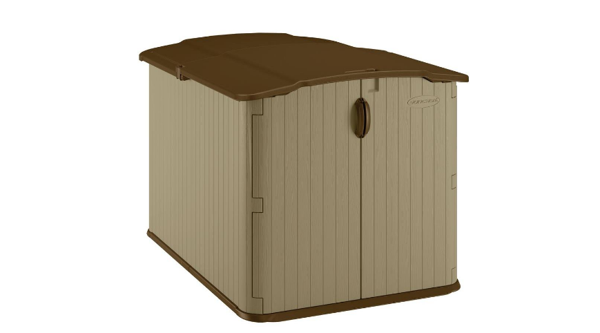 Glidetop Resin Storage Shed Outdoor Home Garden Browns Resin Heavy Duty New