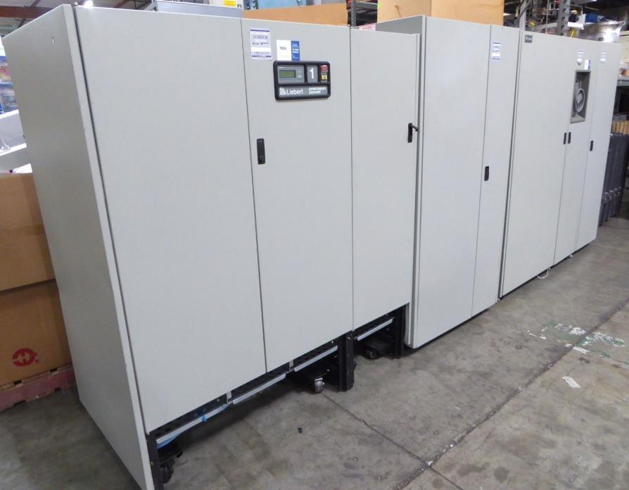 S134196 Liebert AP381 125kVA 480VAC UPS UBP180 Battery Cabinet + PPA125C Panel