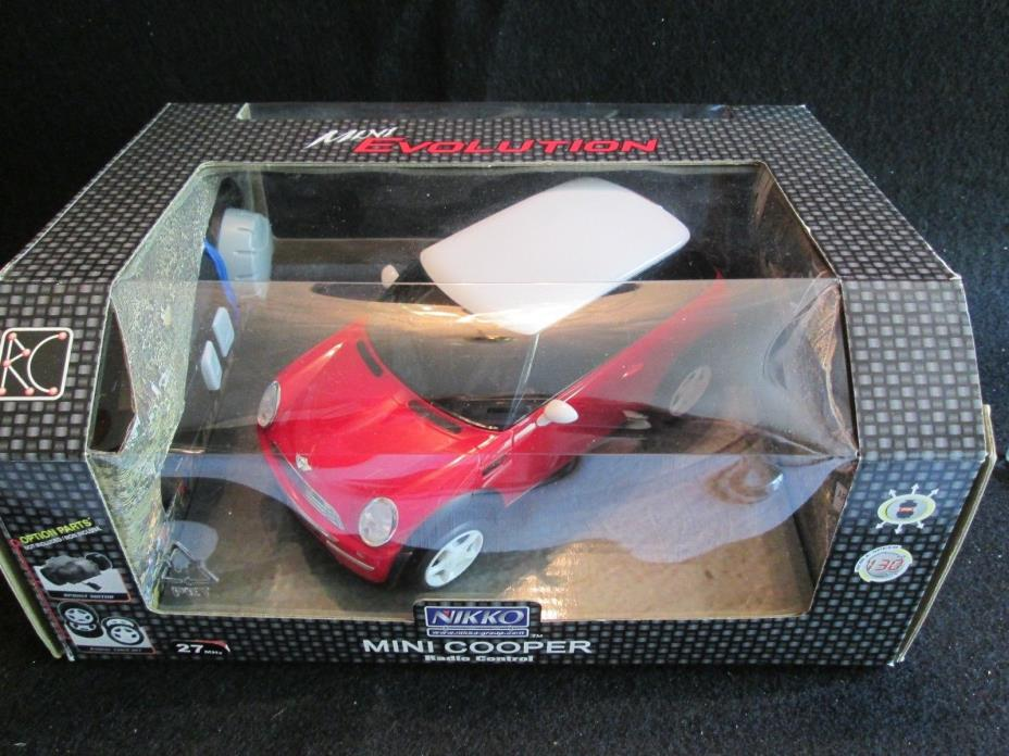 NEW Red Mini Cooper Nikko Radio Control System Evolution Series RC Car Sprint NB