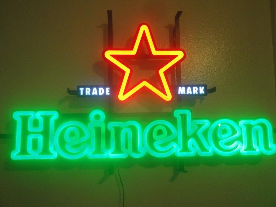 Heineken Neon Beer Signs - For Sale Classifieds