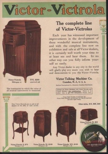 1912 VICTOR VICTROLA MUSIC MACHINE HOME PLAYER DANCE AD12401