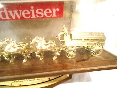 Vintage Budweiser Beer Wagon Electric Wall Clock