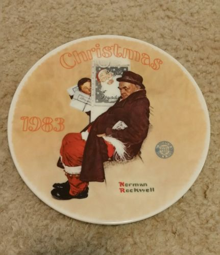 Edwin m. knowles Christmas plate