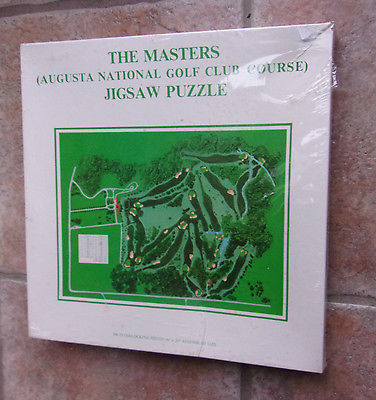 1974 AUGUSTA NATIONAL THE MASTERS 500 PC GOLF JIGSAW PUZZLE NIB Shrink Wrapped