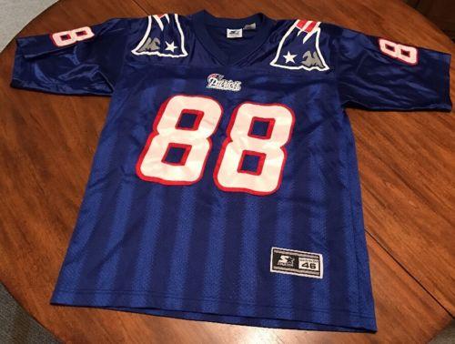 Vintage New England Patriots Terry Glenn Men's Medium Authentic Starter Jersey