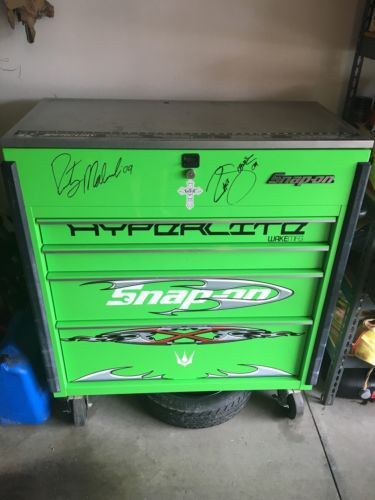 Snap On Green Tool Box.   4 Drawer Slide Top. Perfect Condition. Signed