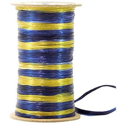 Raffit Ribbons Ribbons Duets - Navy Blue and Antique Gold, Pearl Finish 2-Color