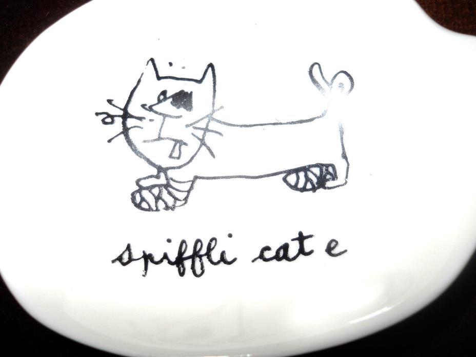 3 LIMOGES by Solim Cat ash trays MCM Cartoon Joke French 50s vintage original