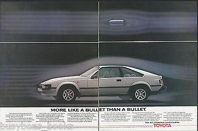 1984 TOYOTA CELICA SUPRA 2-page advertisement, British advert