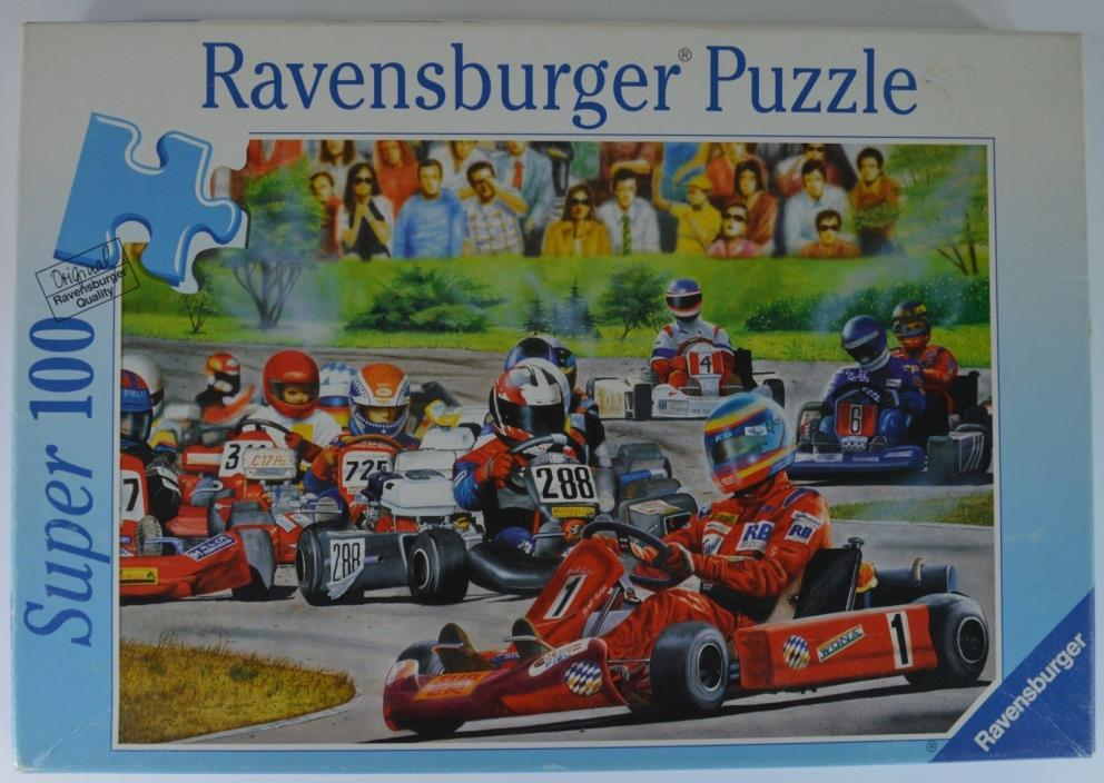 Super 100 Go-Kart Racing 1999 Ravensburger Puzzle New in Box
