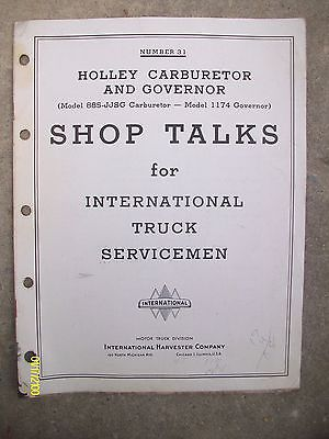 Vintage International Harvester Motor Truck Holley Carburetor Governer Shop Talk