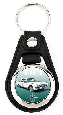Lincoln 1963 Continental Richard Browne Artwork Keychain Key Fob -