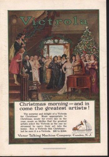 1911 VICTROLA CHRISTMAS HOLIDAY IST MUSIC DANCE TREE12404