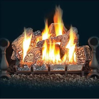 Napoleon 18-inch Fiberglow Natural Gas Vented Gas Log Set With Electronic