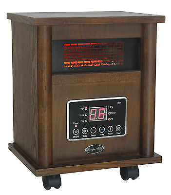 Comfort Glow Portable Electric Infrared Cabinet Heater with Programmable Timer