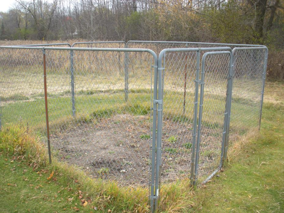 Dog Kennel Chain Link Fence Large Dogs Steel Cage Outdoor.  12' x 12' x 6