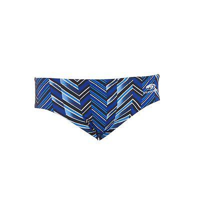BLUESEVENTY TRAINING SWIMSUIT SWIMMING Chevron Brief Men Blue Stripes 34