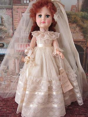 Effanbee 18in Bride Doll, All Original With Tag. Excellent