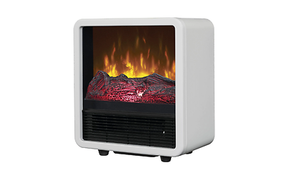 Electric Portable Fireplace White Duraflame Personal Space Heater Office Home