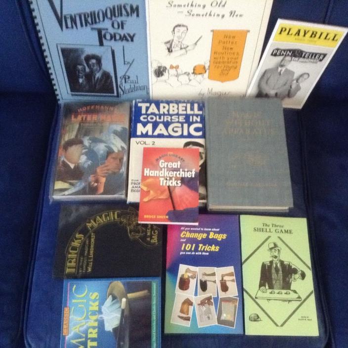 MAGIC TRICKS BOOKS BONANZA- Lot of 11 Books- Wide Variety!