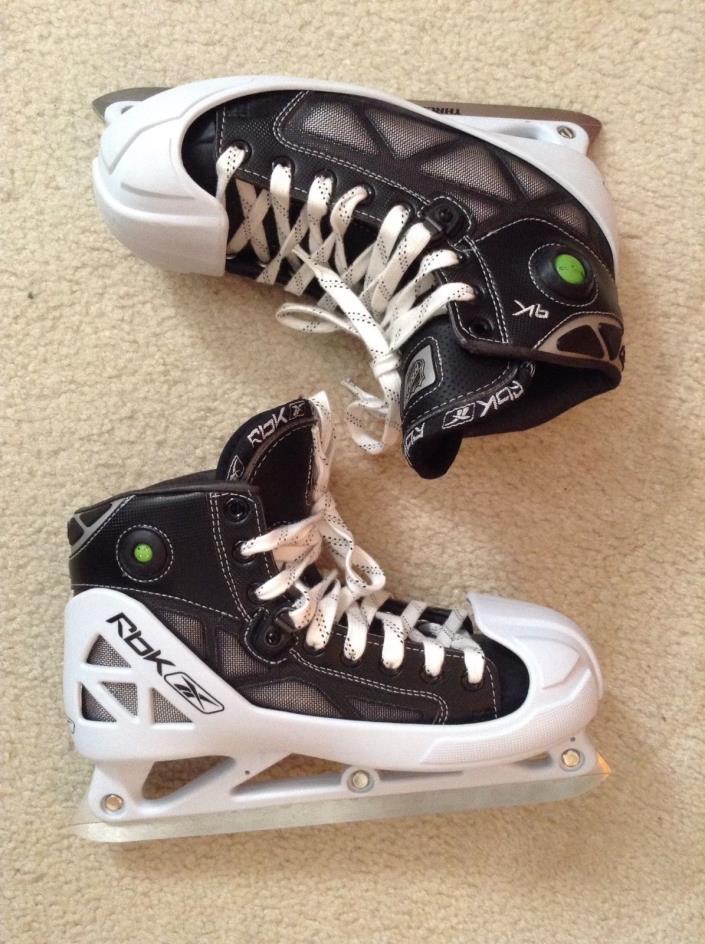 EUC! Mens RBK Thrust Blade Stainless Steal Hockey Skates Skate Sz 6.5D/Shoe Sz 8