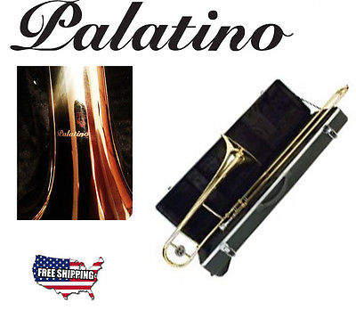 Palatino B-Flat Trombone Outfit with Thermoplastic Case Good Condition