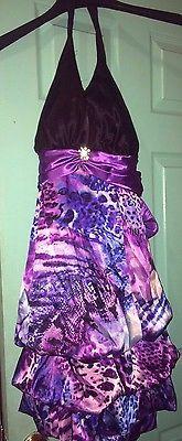 Women Purple Formal Wedding Dress Size 14
