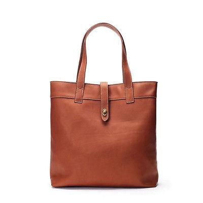 New Winn International Women's Leather Large Tote Handbag