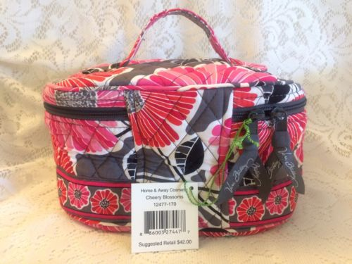 Vera Bradley Home & Away Cosmetic Cheery Blossoms NWT