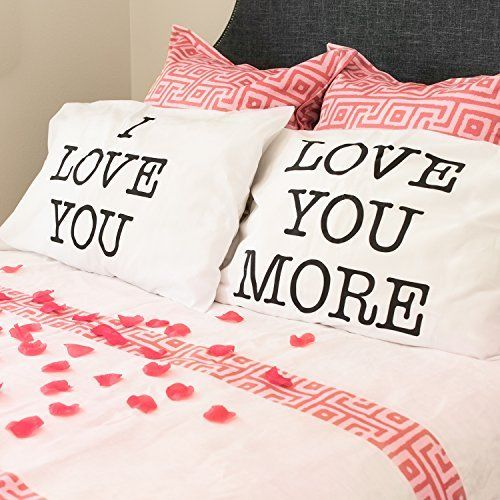 Romantic Pillowcase Pair Cushion Cover Bedroom Decoration Valentines Day Gift