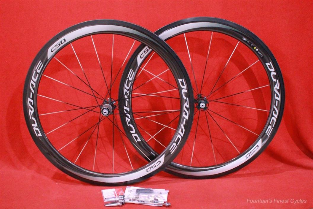 NEW 2016 SHIMANO DURA-ACE WH-9000 C50 CARBON TUBULAR WHEELSET 700c $2899 RETAIL