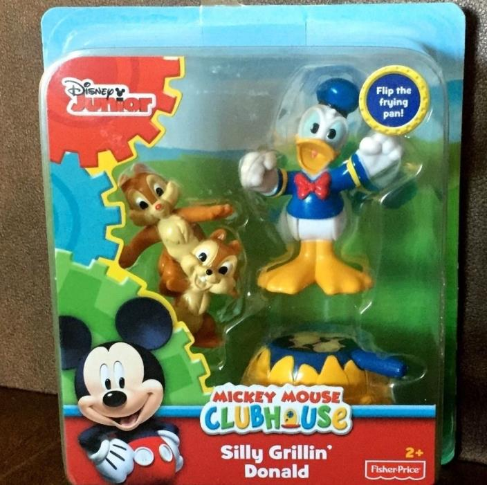 DISNEY JR. SILLY GRILLIN DONALD & CHIP & DALE FISHER PRICE MICKEY MOUSE CLUBHOUS