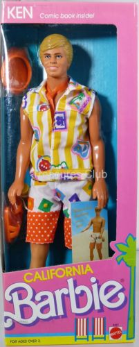 California Barbie Ken Doll #4441 Never Removed from Box 1987 Mattel, Inc.