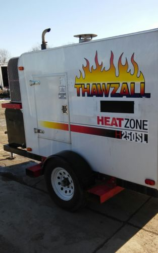 2010 Thawzall H250SL Towable Glycol Hydronic ground Heater 280K BTU Isuzu Diesel