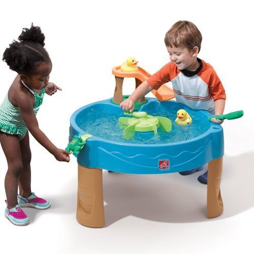 Duck Pond Water Table Spinner Kid Sand Box Frog Squirter Pool Slide Rubber Duck