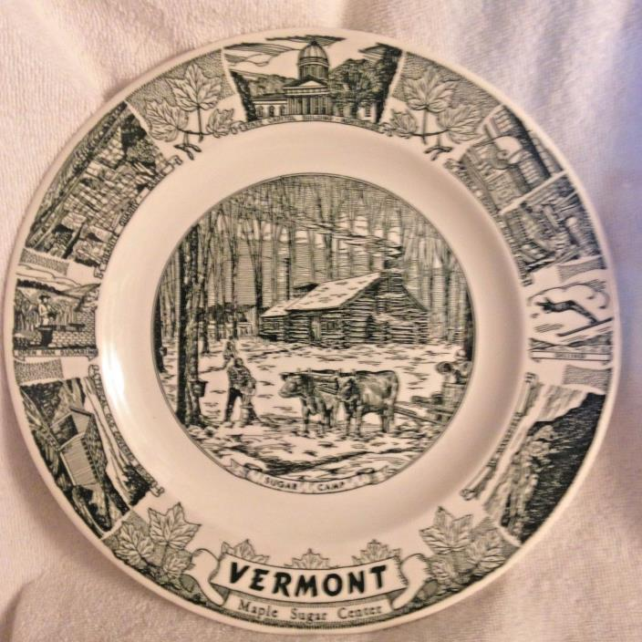 Kettlesprings Kilns Collectors Plate Vermont Maple Sugar Center Sugar Camp