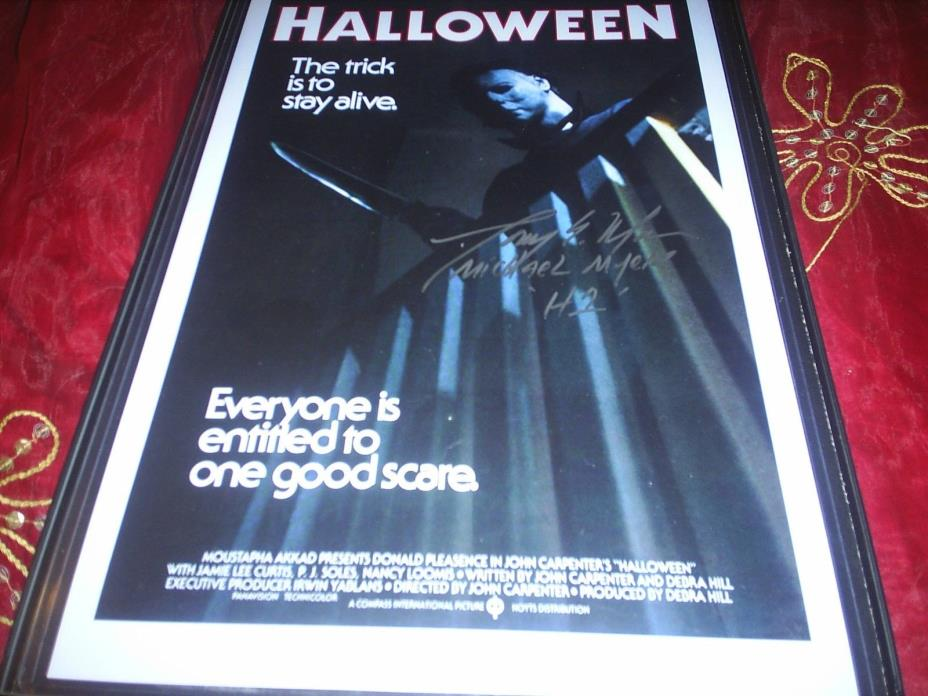 HALLOWEEN MICHAEL MYERS PHOTOGRAPH~SIGNED BY
