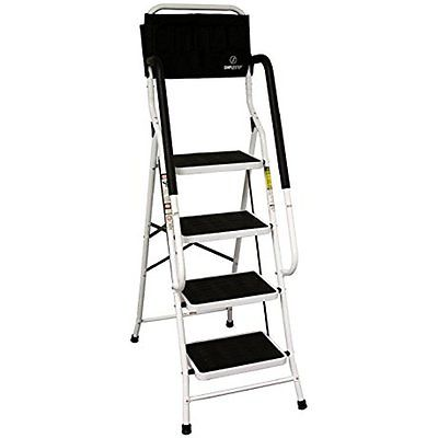 Simple Step Ladders Step 2 in 1 Step Stool and Ladder with Safety Rails and