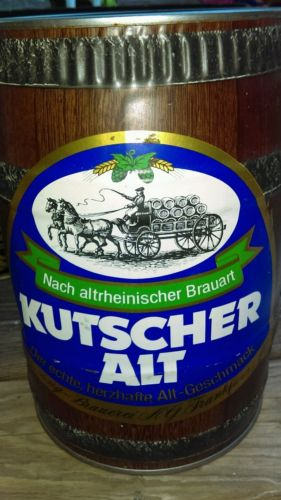 Vintage KUTSCHER ALT 5 LITER BEER CAN 5 LITER GERMAN KEG GALLON Beer Can